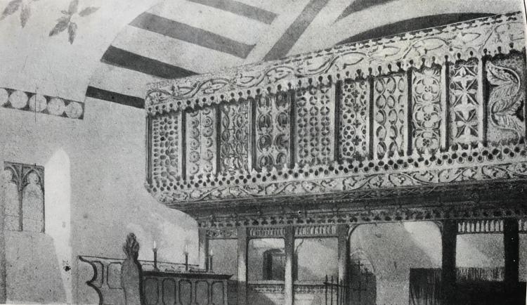 Llanegryn choir screen